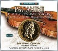 Paganini played on Paganini's Violin: 6 Violin Concertos, Unpublished Adagio | Dynamic CDS450