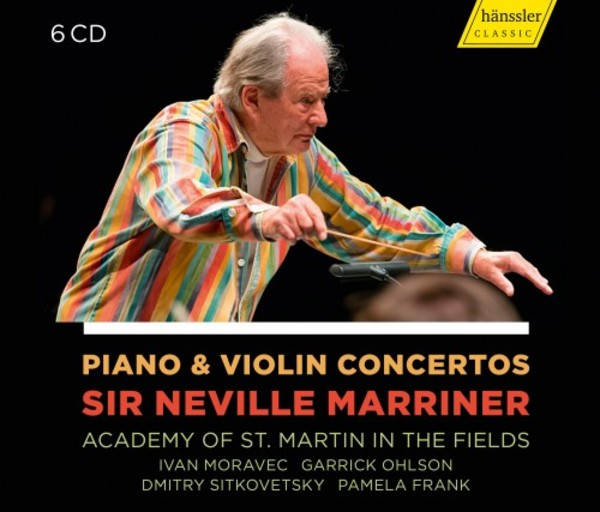 Neville Marriner conducts Piano & Violin Concertos | Haenssler HC19001