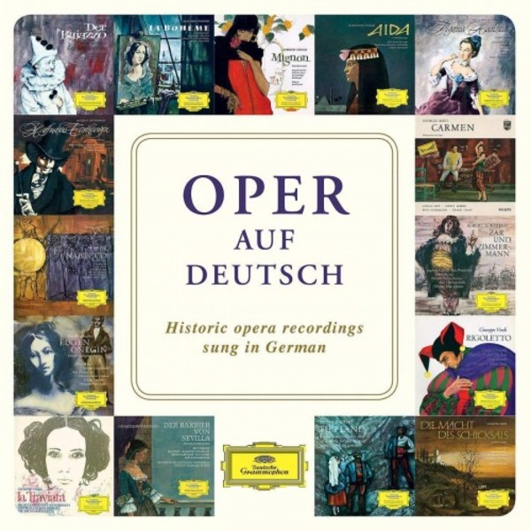 Oper auf Deutsch: Historic Opera Recordings sung in German | Deutsche Grammophon 4837295