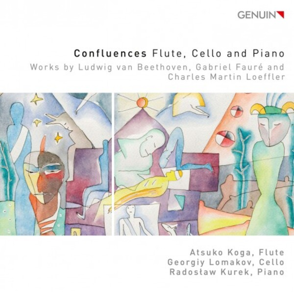 Confluences: Works for Flute, Cello & Piano by Beethoven, Faure & Loeffler